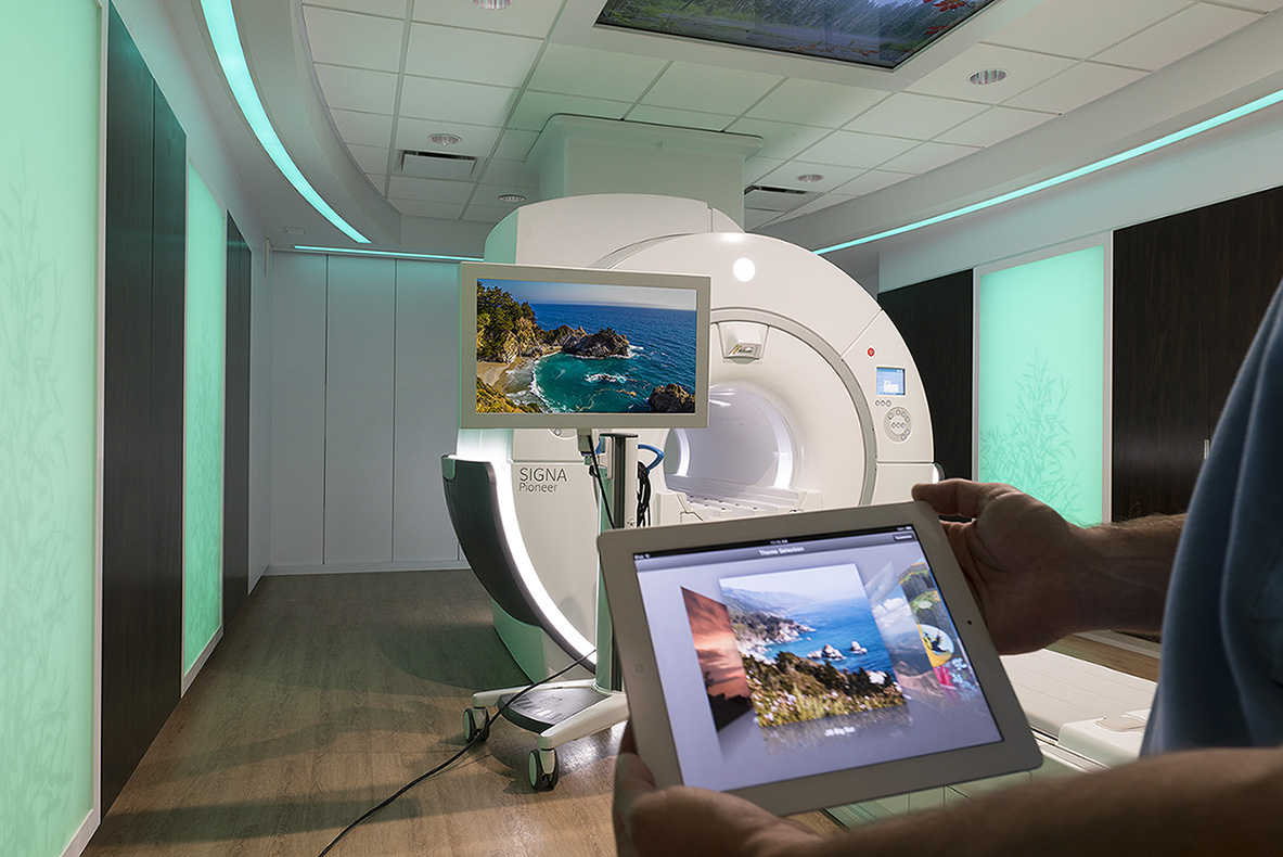 GE Healthcare's Caring MR Suite with inbore viewing for best MRI patient experience