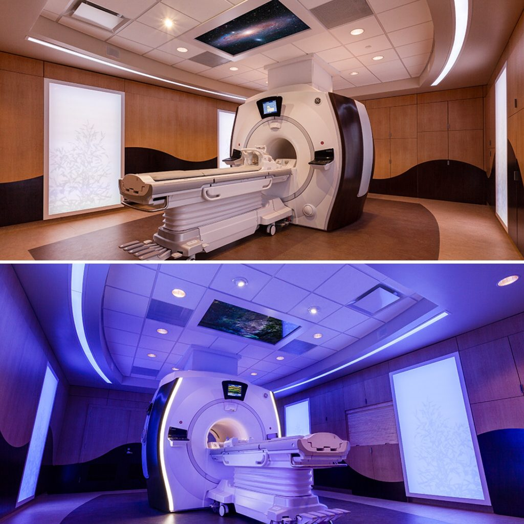 MRI Caring MR Suite for reduced MRI sedation, claustrophobia and anxiety